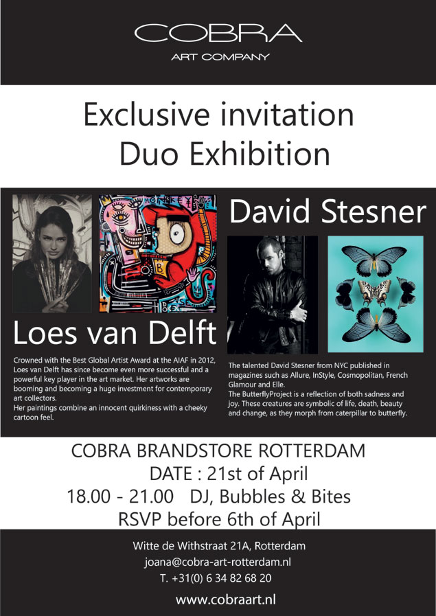 Opening Cobra Art expo op 21 april