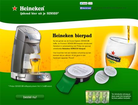Enkele jaren geleden kwam begin april de 'Heineken SENSEO® bierpad' op de markt. Vele duizenden wilden die bierpads direct bestellen.