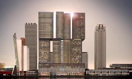 De komst van De Rotterdam moet ook niet worden overschat. De appartementen van De Rotterdam zullen hooguit enkele honderden nieuwe bewoners trekken. Foto: Vastgoedjournaal