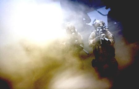 Navy Seals in actie. Foto bij de inleiding: Jessica Chastain als CIA-analytica Maya.
