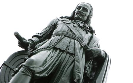 Het standbeeld van Michiel de Ruyter in Vlissingen