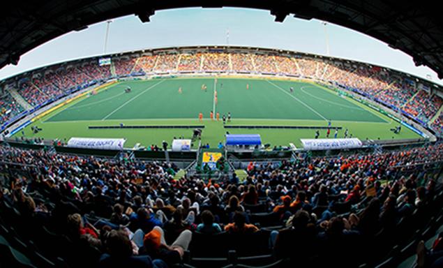 Het Kyocera stadion in Den Haag waar het WK-hockey afgelopen weken is gehouden.