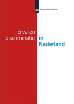 Het rapport 'Ervaren discriminatie in Nederland' van het Sociaal en Cultureel Planbureau (SCP). Tekening bij de inleiding is van Opland.