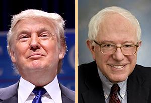 Donald Trump en Bernie Sanders