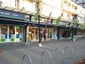De investeringen in de winkelstraat Nolenslaan in Nieuwland waren vooral succesvol. Foto: Ronald Bergsen