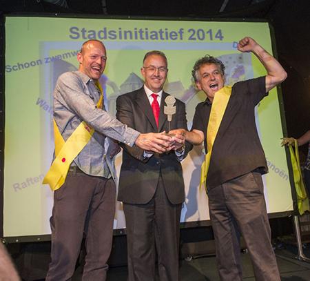 Burgemeester Ahmed Aboutaleb heeft de uitslag van de Stadsinitiatief verkiezing donderdagavond 10 juli in BIRD Rotterdam bekendgemaakt.