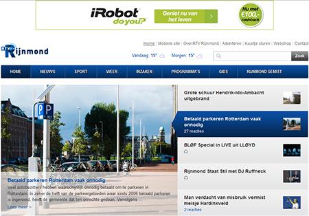 De website van Rijnmond