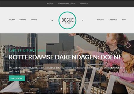 De website van Bogue.