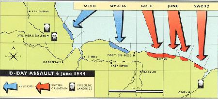 Ik vroeg of de grote baas van de Perscombinatie, Theo Bouman, wist waarom op 6 juni 1944 de geallieerden bij de Normandische invasie hun troepen niet op één strand aan land zetten, maar op liefst vijf stuks. Dat was om te voorkomen dat wanneer het op één strand zou mislukken – en dat gebeurde bijna op Omaha – er nog vier andere stranden waren waar de troepen wel succes zouden kunnen hebben.