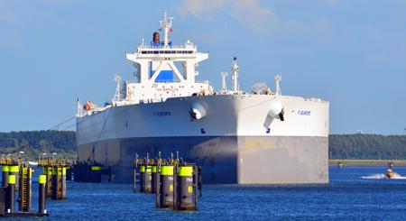 De grootste nog varende olietanker ter wereld: Ti-Europe