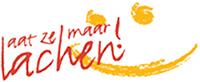 Het logo van de stichting 'Laat Ze Maar lachen'.
