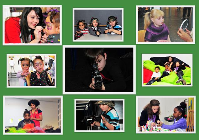 In het buurtcentrum 'De Focus' in Beverwaard werd een kinderverwendag gehouden.