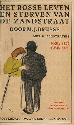 Omslag: Het rosse leven en sterven van de Zandstraat van J. Brusse
