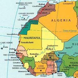 De Afrikaanse westkust.