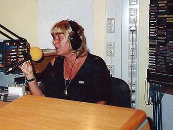 Voor Radio Rijnmond maakte Lida Iburg vanaf eind jaren negentig lange tijd het programma Muziek en Emoties. Foto: Anja Iburg
