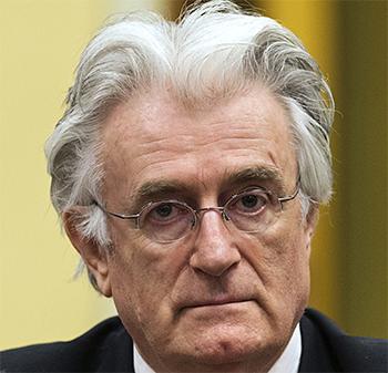 Rob Siebelink had op een geheime plek een interview met de van oorlogsmisdaden beschuldigde Karadzic (foto).