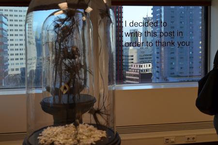 Installatie Alette Wittewaall op de elfde verdieping Re:. Foto's: Ronald Glasbergen
