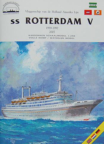 Ook de Rotterdam is ooit in karton uitgegeven.