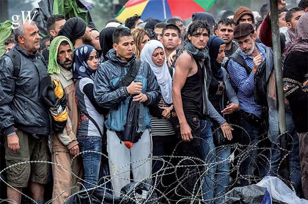 'Mensen op de vlucht'. Foto's: Arie Kievit