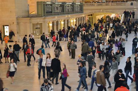 Publijk op Grand Central.