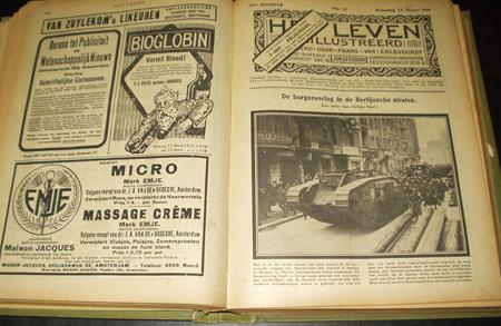 Het geïllustreerde weekblad 'Het Leven' speelde een grote rol in Nederlandse publicaties van het Duits/Belgische front.