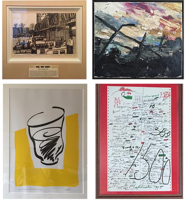 Enkele van de werken die te koop zijn.