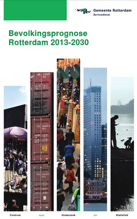 De zekere mate van vergrijzing in de gemeente Rotterdam blijft ver achter bij de landelijke trend.