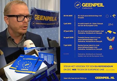 Door met 'tegen' een stok tussen de Europese spaken te steken, geven de initiatiefnemers en hun GeenStijl-aanhangers dus ook de Haagse kliek een opdoffer.