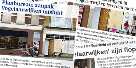 De krantenkoppen in de landelijke dagbladen doen vermoeden dat er geen enkele vooruitgang zou zijn geboekt in de Vogelaarwijken.