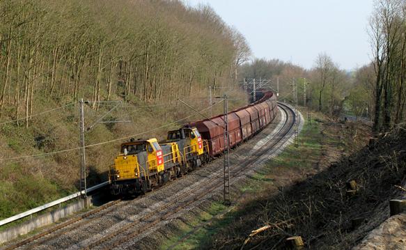 Bewoners uit Elst en Oldenzaal zijn het toenemende, vooral nachtelijk, goederenvervoer op het spoor beu. Foto: 3rail Forum